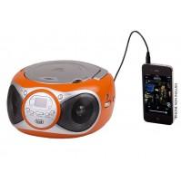Trevi CD 512 Lettore CD Stereo Portatile Arancio Radio FM AUX IN e Presa Cuffia