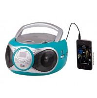 Trevi CD 512 Lettore CD Stereo Portatile Azzurro Radio FM AUX IN e Presa Cuffia
