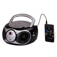 Trevi CD 512 Lettore CD Stereo Portatile Nero Radio FM AUX IN e Presa Cuffia