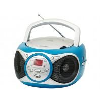 Trevi CD 512 Lettore CD Stereo Portatile Turchese Radio FM AUX IN e Presa Cuffia