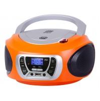 Trevi CMP 510 DAB Radio Stereo Portatile Boombox Arancio Lettore CD USB Cuffia