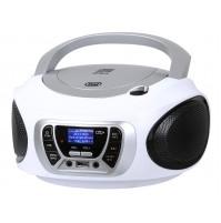 Trevi CMP 510 DAB Radio Stereo Portatile Boombox Bianco Lettore CD USB Cuffia