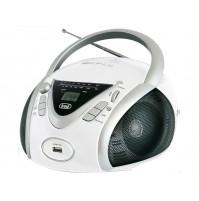 Trevi CMP 542 Radio Stereo Portatile Boombox Bianco Lettore CD USB Cuffia