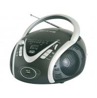 Trevi CMP 542 Radio Stereo Portatile Boombox Nero e Lettore CD USB Uscita Cuffie