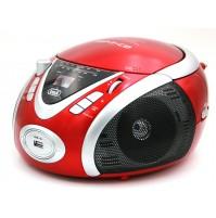 Trevi CMP 542 Radio Stereo Portatile Boombox Rosso Lettore CD USB Cuffia