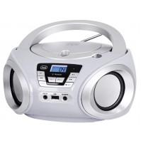 Trevi CMP 544 BT Radio Stereo Portatile Boombox Bianco Lettore CD MP3 Bluetooth