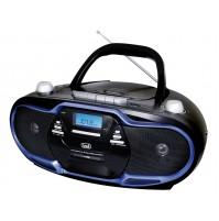 Trevi CMP 574 USB Radio Registratore Blu 20 Watt con Lettore CD Cassetta Stereo
