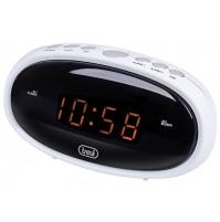 Trevi EC 880 Orologio Digitale a Rete Corrente con Doppia Sveglia Bianco Snooze