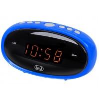 Trevi EC 880 Orologio Digitale a Rete Corrente con Doppia Sveglia Blu Snooze