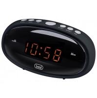 Trevi EC 880 Orologio Digitale a Rete Corrente con Doppia Sveglia Nero Snooze