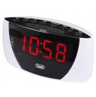 Trevi EC 885 Orologio con Doppia Sveglia Digitale Grande Display Bianco Corrente