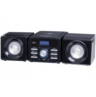 Trevi HCX 1030 S Mini Stereo Hi-Fi 10 Watt Nero con Radio Lettore CD USB AUX IN