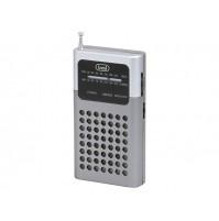 Trevi RA 714 B Mini Radio Portatile AM FM Silver a Batterie Altoparlante Cuffia