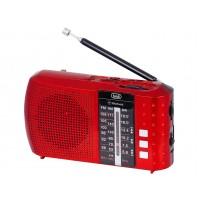 Trevi RA 7F20 BT Radio Portatile Ricaricabile FM AM SW Bluetooth USB Rosso NUOVO