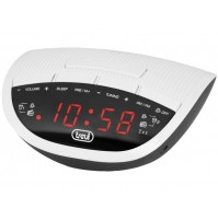 Trevi RC 825 D Radiosveglia AM FM Elettronica Digitale Bianco Orologio 2 Sveglie