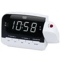 Trevi RC 858 PJ Radiosveglia Digitale AM FM Bianco con Proiezione Orario NUOVO