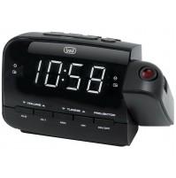Trevi RC 858 PJ Radiosveglia Digitale AM FM Nero con Proiezione Orario NUOVO