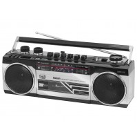 Trevi RR 501 BT Radio Registratore con CASSETTA Silver Bluetooth Stereo USB MP3