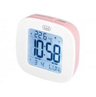 Trevi SLD 3860 Orologio Sveglia Digitale Rosa con Termometro Calendario Snooze