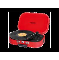 Trevi TT 1020 BT Sally Giradischi Ricaricabile 33 45 78 Giri Rosso Bluetooth
