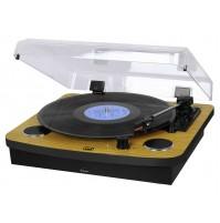 Trevi TT 1022 BT Giradischi Stereo 33 45 78 Giri Bluetooth Legno Vintage Piatto