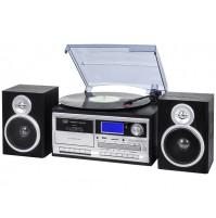 Trevi TT 1070 Giradischi Stereo 33 45 78 Giri Nero Encoding Bluetooth CASSETTE