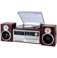 Trevi TT 1072 Giradischi Stereo 33 45 78 Giri Legno Encoding Bluetooth CASSETTE